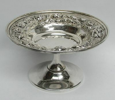 "1950 Steiff Company Sterling Silver  Repousse' 4"" Compote Candy Dish"