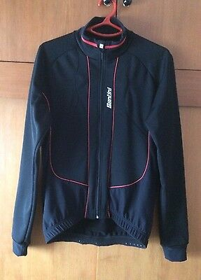 """chaqueta ciclismo """"made in Italy"""" SANTINI OCTA WINDSTOPPER cycling jacket L size"""