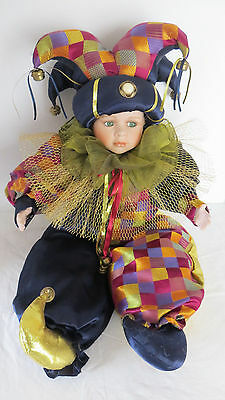 "Show Stoppers 29"" Court Jester Porcelain Doll"