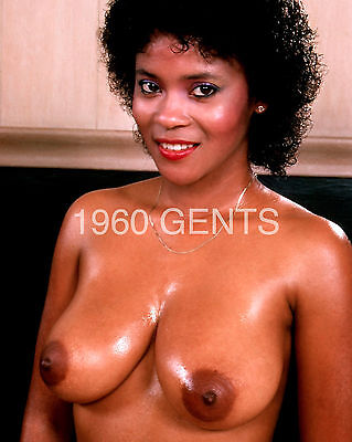 1970s NUDE 8X10 PHOTO BIG BREASTS NIPPLES JEANNIE PEPPER FROM ORIGINAL NEG-3
