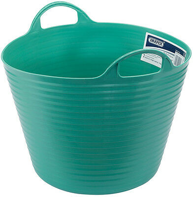 Genuine DRAPER 28L Multi Purpose Flexible Bucket - Green | 49102