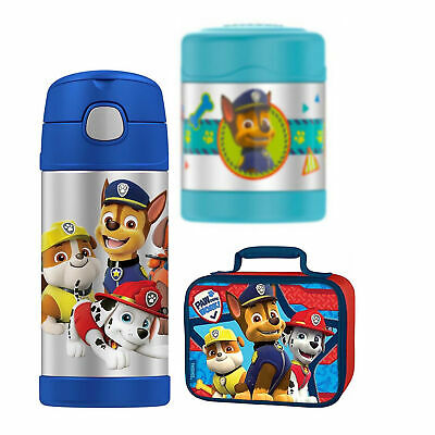 Thermos Funtainer 10 oz Food Jar, 12 oz Bottle Lunch Kit - Paw Patrol