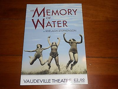 The Memory of Water - 1999 West End Theatre Show Programme
