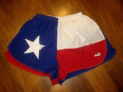 """TEXAS State FLAG Polyester Unisex SMALL 1.5"""" Inseam boa running athletic shorts"""