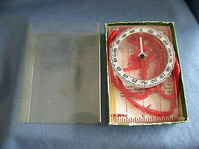 Vintage Silva Polaris Liquid Filled Compass Type 7Nl Instructions & Original Box