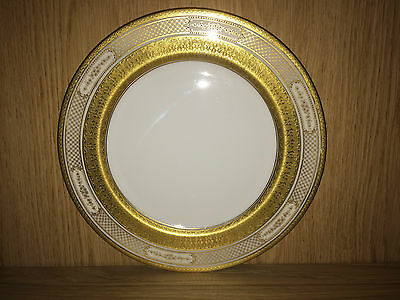 """Early 9"""" Plate By Royal Doulton With A Beautiful Gilt Pattern"""