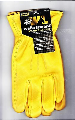 Wells Lamont Extra Large Pair of Premium Cowhide Leather Work Gloves