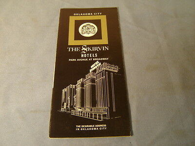 Vintage 60s The Skirvin Hotels Oklahoma City Travel Brochure
