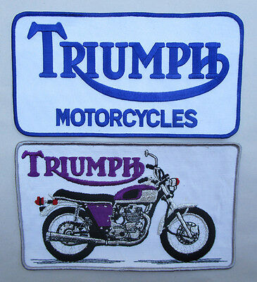Vintage Triumph Motorcycle Jacket Patch Lot Of 2 Classic T150 Trident 1970S Cool
