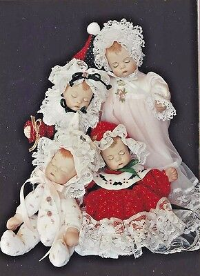 """7""""vintage""""little Sugar Lump""""jointed Cloth Doll Body&dress Variations&hat Pattern"""