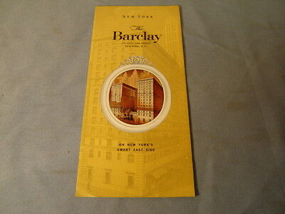 Vintage 1961 The Barclay New York City Travel Brochure