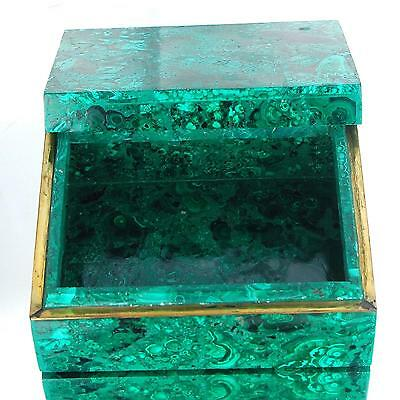 7711 Cts Certified Natural Malachite Box Rare Huge Museum Grade Gemstone