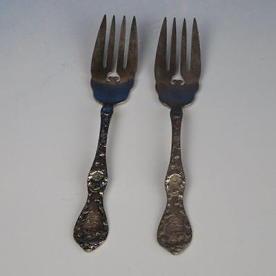 Reed & Barton Sterling Silver - Les Six Fleurs (1901) - 2 Forks