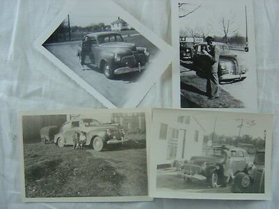 Lot of 4 Vintage Car Photos 1941 Plymouth Automobile 780400