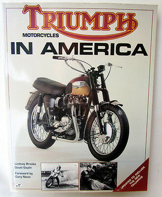 Triumph In America Motorcycle Book Pre & Unit Racing Tr6 T100 Bonneville Gaylin