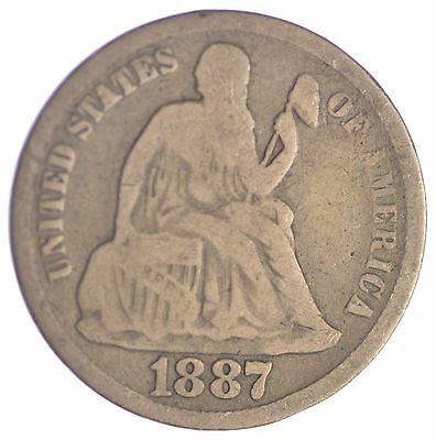 Full Liberty - 1887-S Seated Liberty Silver Dime *325