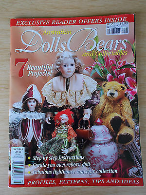 ADB&C Vol 15 #4~Doll & Bear Patterns~Reborn Beth~Atlanta~Fortune Teller~Musical