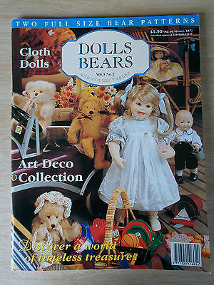 ADB&C Vol 3 #2~Doll & Bear Patterns~Tippy~Art Deco Pillow~Mr Knees~Belvedere...