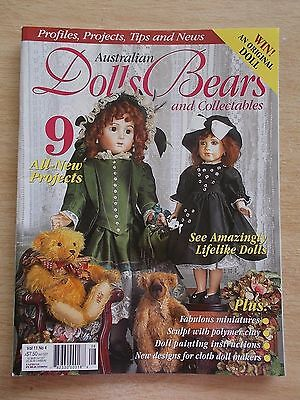 ADB&C Vol 11 #4~Doll & Bear Patterns~Bundle of Joy~Sleepover Pals~Dragon~Armoire