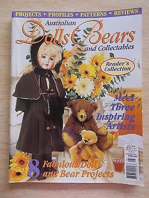 ADB&C Vol 7 #6~Doll & Bear Patterns~Maxwell~Louisa~Madelyn~Vineyard Goddess