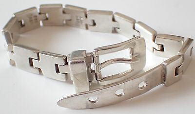 Beautiful Belt 925 Sterling Silver Bracelet 81.5g