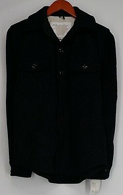 Unbranded Sz M Long Sleeve Button Front Wool Coat Gray NEW 2nd