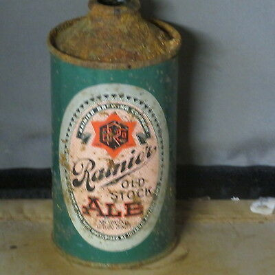 Rainier  Old  Stock Ale    Colorful Irtp  Cone Top