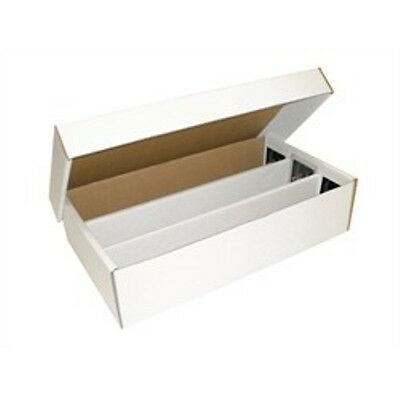 (4) 3000 Count BCW (2-Piece) (3-Row) Super Shoe Cardboard Trading Card Boxes-NEW