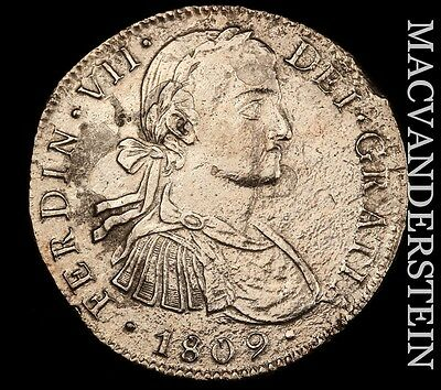 Mexico: 1809-Mo,th Eight Reales- Scarce !!extra Fine+ !!  #t7051