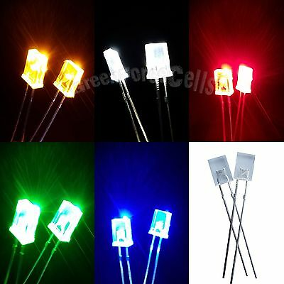 2x5x7mm Water Clear Diffused Rectangle LED Emitting Diodes Light US Stock