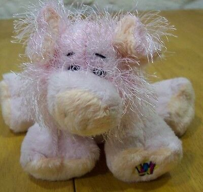 "Ganz FRIZZY HAIRED PIG 8"" Plush Stuffed Animal"