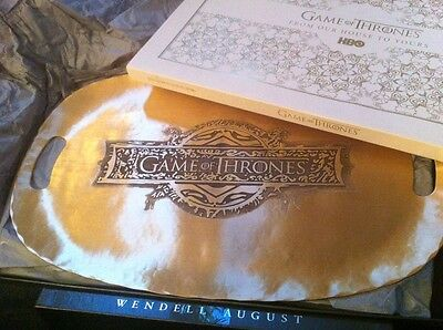 Game Of Thrones HBO PROMO  Season 4 Exclusive Wendell August TRAY -SOLID BRONZE