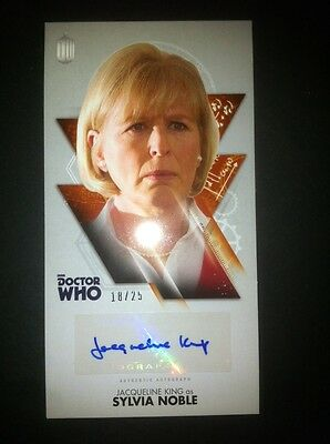 """TOPPS Dr Who  OVERSIZED 2.5 """"X 4.75"""" Autograph Auto Card #18/25 JACQUELINE KING"""