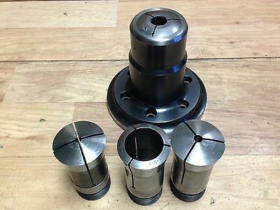 Nice Royal 16C Pull Back Collet Chuck W. A 2 5 Mount + Collets