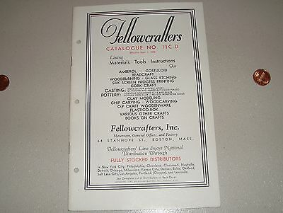 Vintage 1942 Fellowcrafters Catalog Arts & Crafts Supply Catalogue Crafter