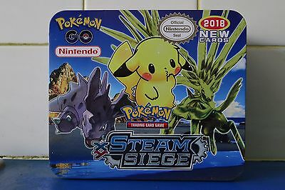 Pokemon Go Steam Siege Trading Card Game 150 Cards Lunchbox Tin 2018 New