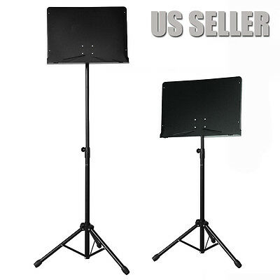 """Adjustable Conductor/Orchestra Sheet Music Stand Black """"Authorized Seller"""""""