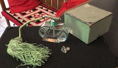 Guilloche ART DECO Green Enamel topped perfume bottle with attached atomizer