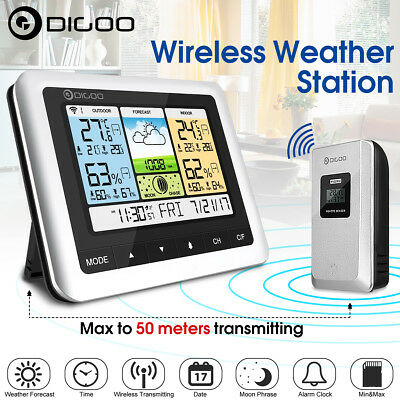Digoo Wireless Color LCD Weather Station Thermometer Hygrometer Barometer Sensor