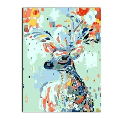 Colorful Deer DIY Oil Painting Paint By Numbers Drawing On Canvas Home Decor