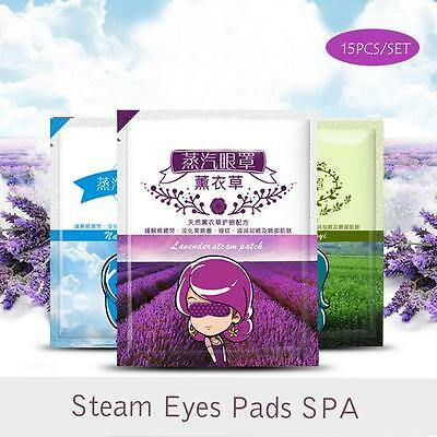 Steam Warm Eye Mask Sleep Mask Relive Relax Soothing Eye Treatments Care Spa SH