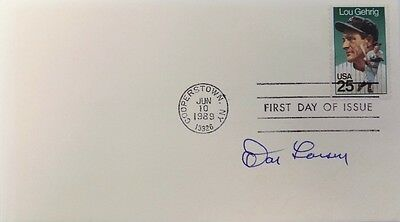 Don Larsen New York Yankees Signed Gateway First Day Cover Gehrig Stamp