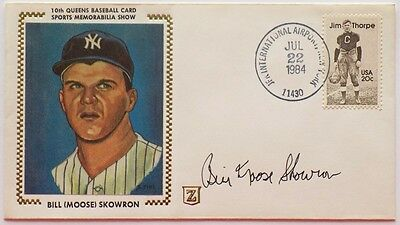 Moose Skowron New York Yankees Signed First Day Cover