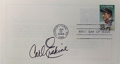 Carl Erskine Brooklyn Dodgers Signed First Day Cover