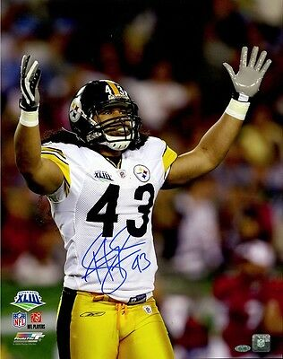 Troy Polamalu Signed 16x20 Photo Pittsburgh Steelers Steiner Sports