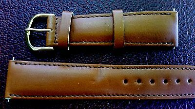 BRACELET MONTRE  /// watch bands CUIR FRANCAIS / 20mm  //marron  ref:KM86
