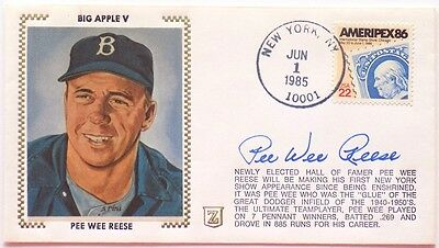 Pee Wee Reese Brooklyn Dodgers Signed First Day Cover