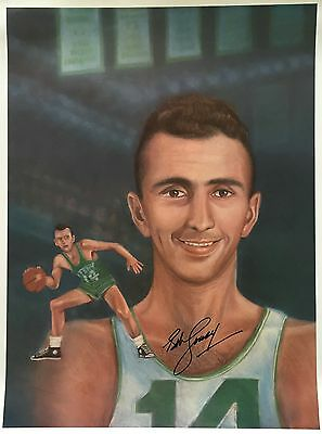 Bob Cousy Boston Celtics Signed 24x18 Photo SI Authenticated