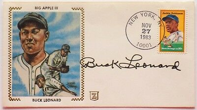 Buck Leonard Homestead Grays Signed First Day Cover