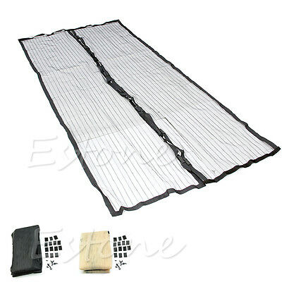 Door Mesh Magic Curtain Magnetic Snap Insect Fly Bug Mosquito Screen Net Guard